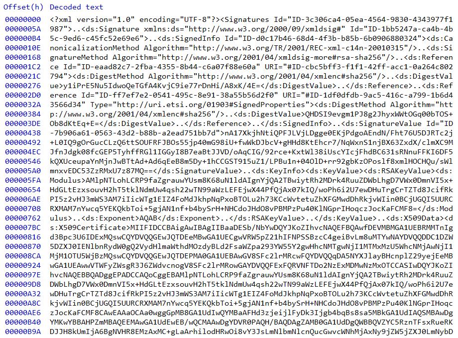 Wnętrze dokumentu elektronicznego