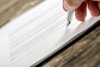 Podpis na zmianie umowy spółki