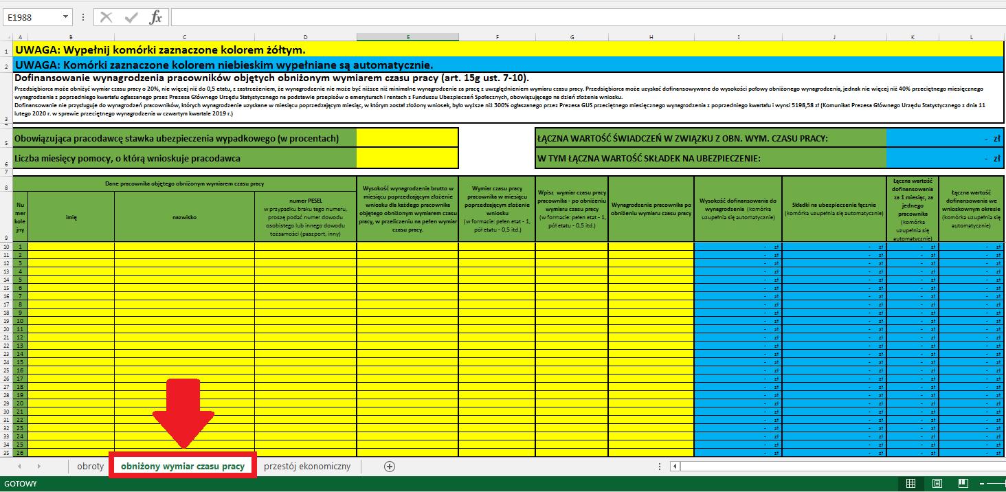 VIA-WOMP załącznik do wniosku o przyznanie świadczeń na rzecz ochrony miejsc pracy